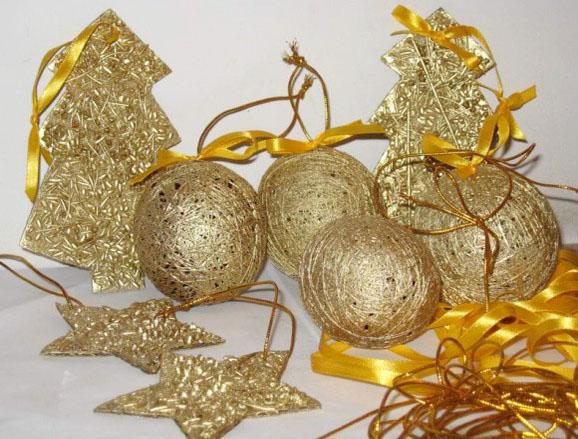 Игрушки на елку своими руками из шариков