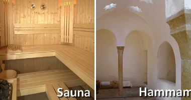 quelle est la diff rence entre un sauna et un hammam. Black Bedroom Furniture Sets. Home Design Ideas
