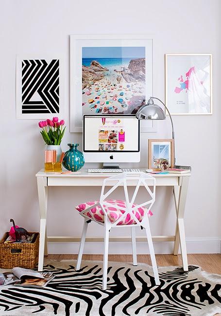 Dolce hogar como decorar un escritorio for Ideas para decorar mi escritorio