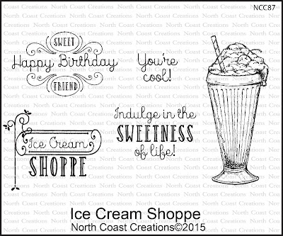North Coast Creations Stamp set: Ice Cream Shoppe