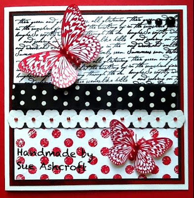 visible image stamps - butterfly stamp - script stamp - polka dot