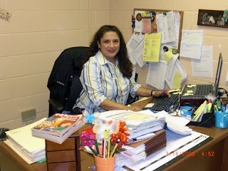 Patricia Cantu-Barrios at work in the Cameron County Juvenile Probation Office.