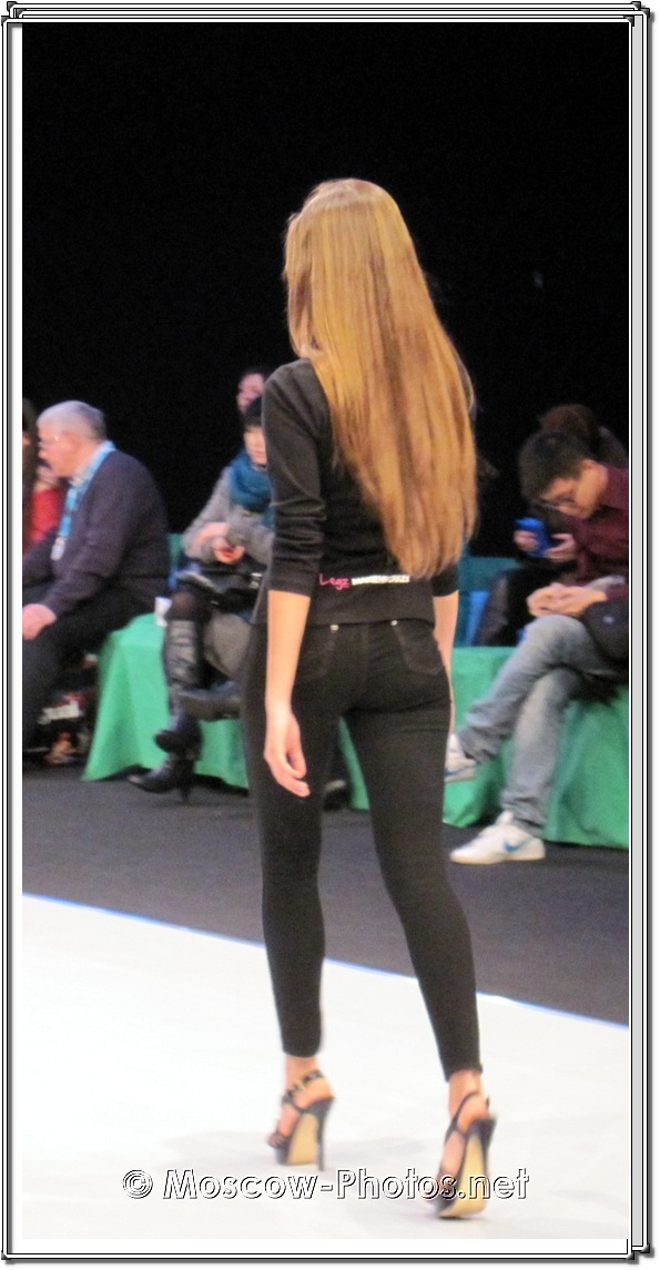 Model in Black Jeans on Stiletos