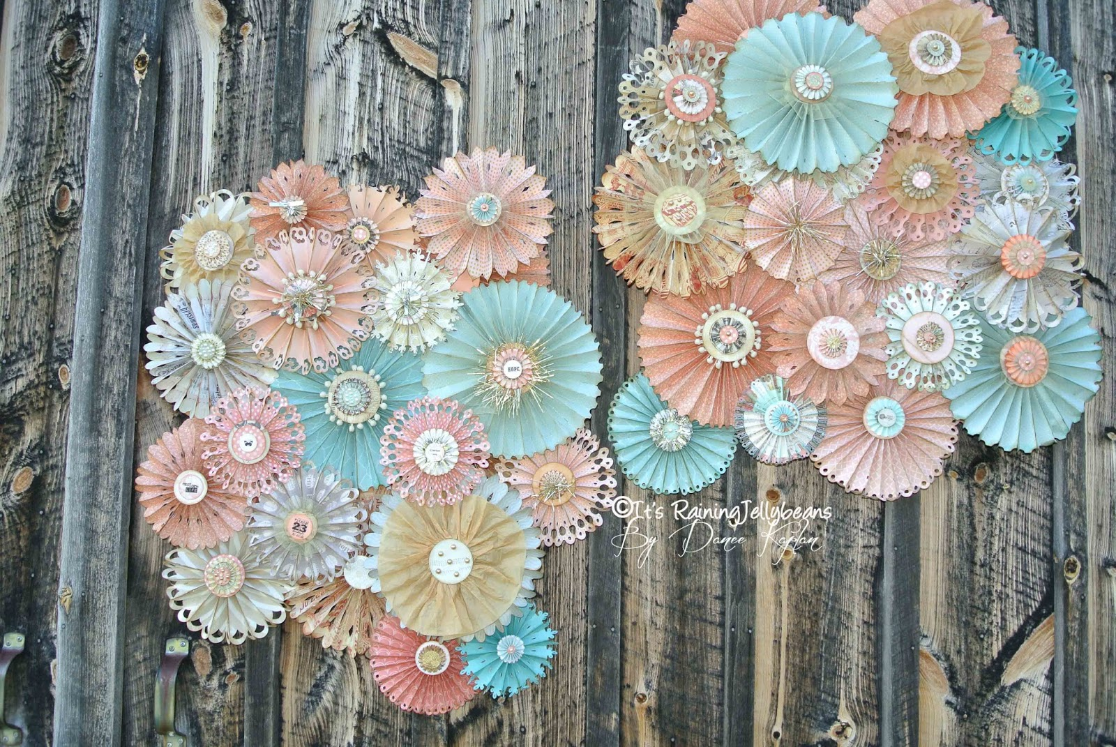 it 39 s raining jellybeans wedding rosette wall decor