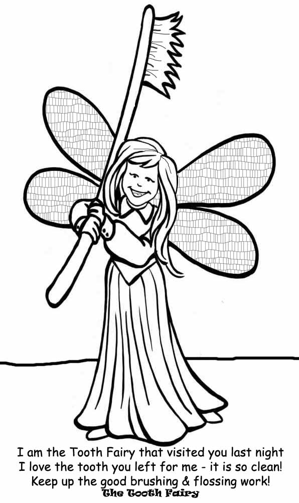 FAIRY COLORING PAGES TOOTH FAIRY COLORING IN PICTURE