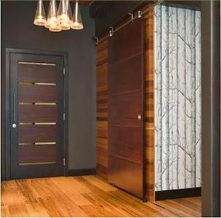 Fotos y dise os de puertas puerta corredera armario - Puertas correderas colgadas ...