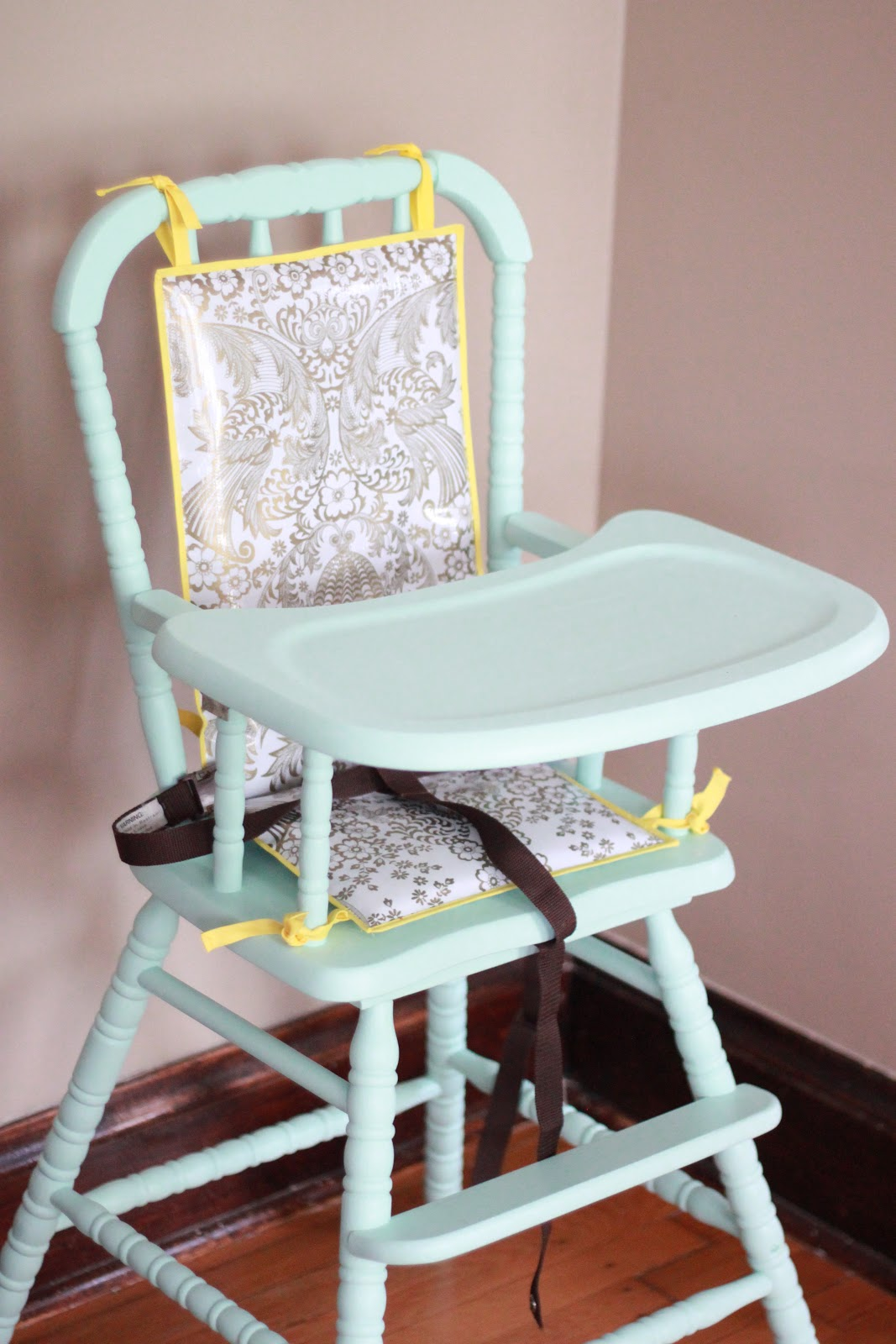 Painted wooden high chair - High Chair Makeover