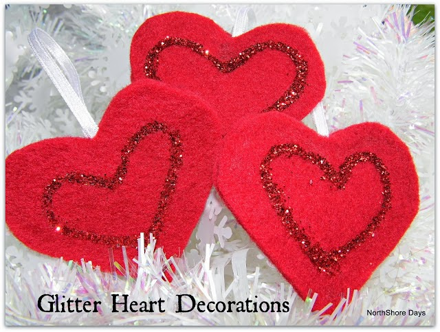 Glitter Heart Decorations