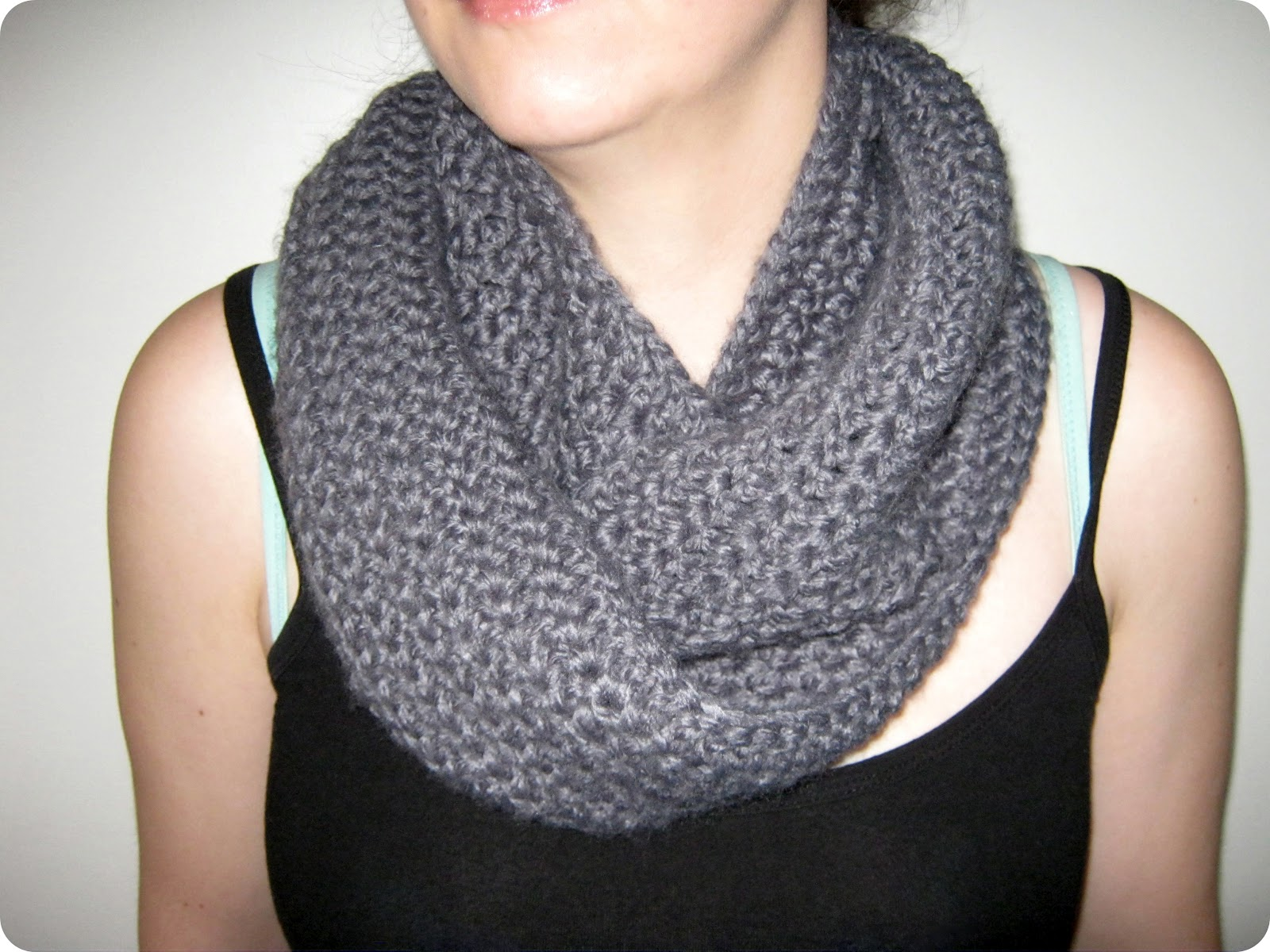 Crocheting Infinity Scarf : STITCH by Fay: Double Loop Crochet Infinity Scarf/Cowl Pattern