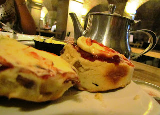 cream tea, scones, St Martins in the Fields, London