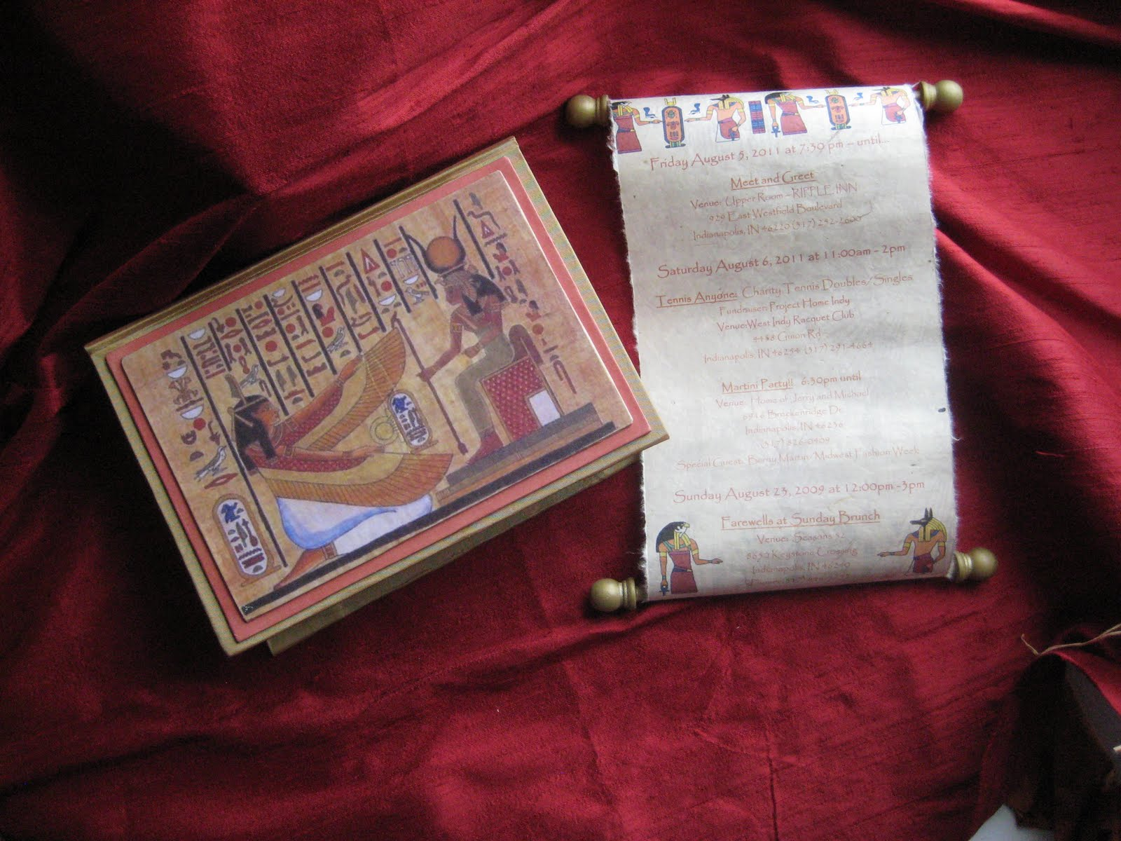 Revelry Invitation Studio Chatter: Ancient Egyptian Themed Box ...