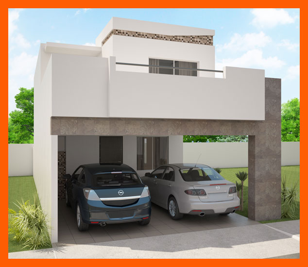 Fachadas de casas modernas fachada moderna de casa modelo for Casas con terraza al frente