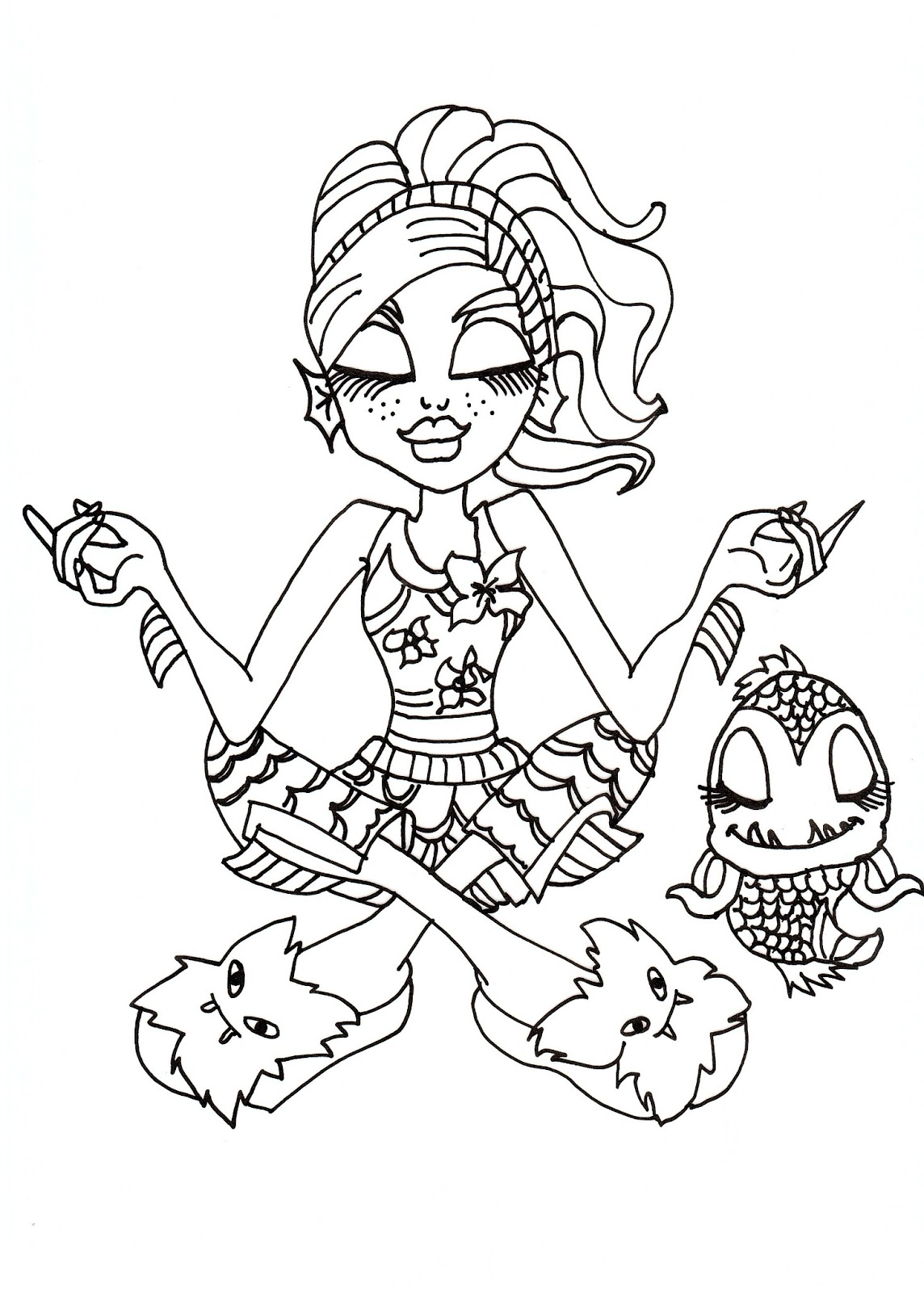 monster high pets coloring pages best monster high pets coloring