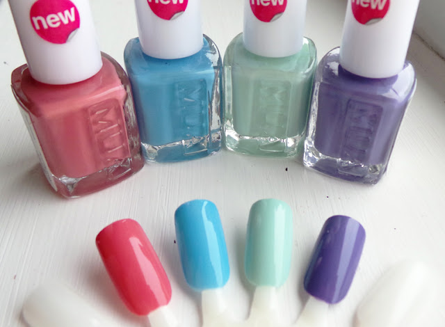 NEW MUA Nail Polishes Amaretto Crush, Bold Blue, Pistachio Ice Cream, Frozen Yoghurt