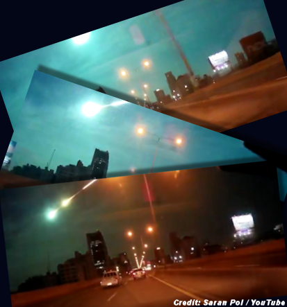 Fireball Lights Up Bangkok Skies 11-2-15