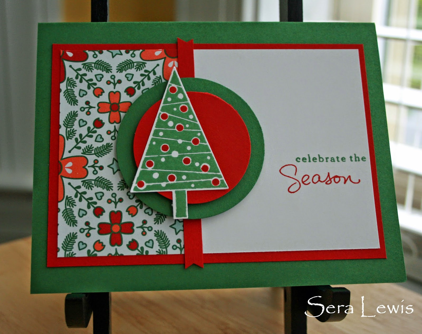 The tree punch makes this Christmas card easy