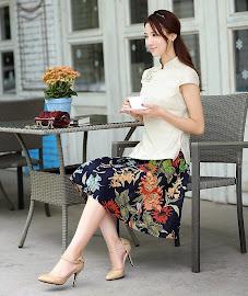 Cotton Linen Short Flare Skirts
