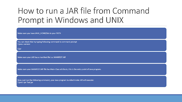 How to run a JAR file from command prompt in Windows 8