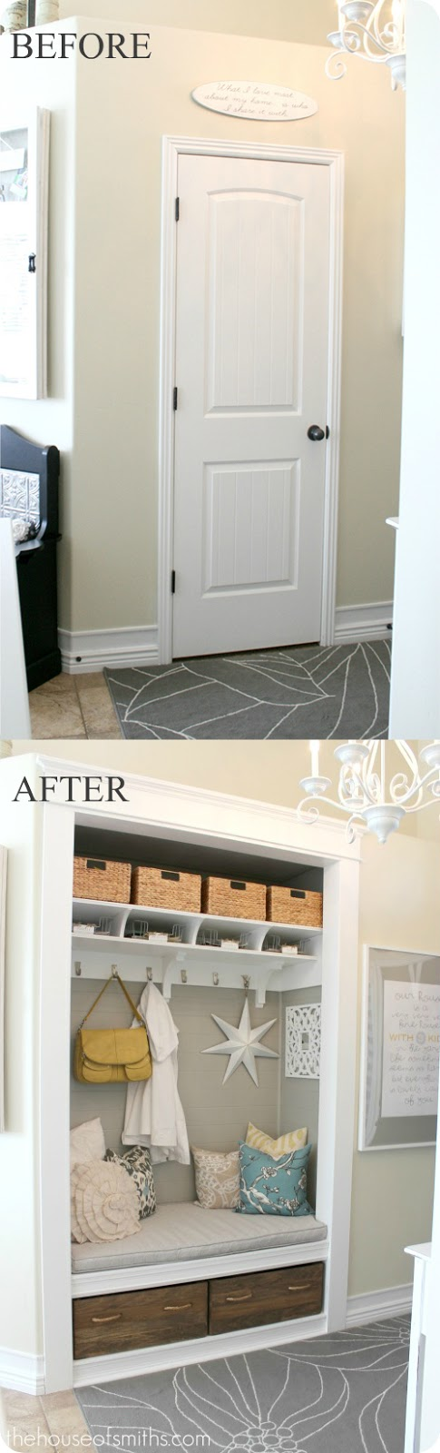 Entryway+makeover+ +thehouseofsmiths