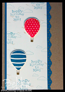 Up, Up and Away from Stampin' Up!  Birthday Card