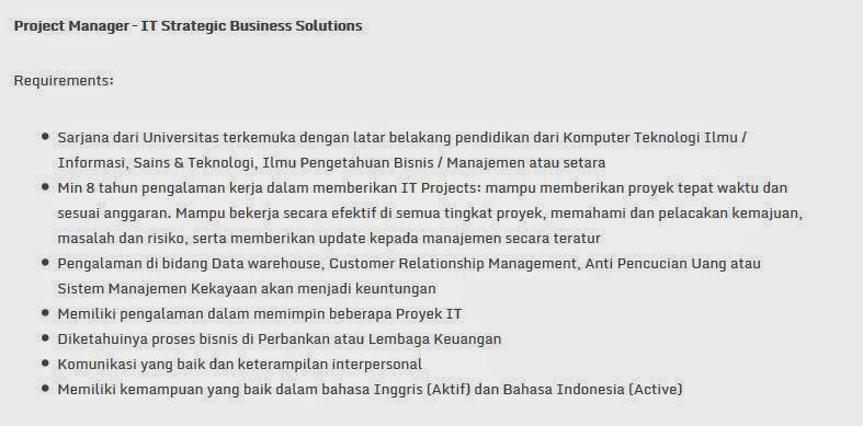 lowongan kerja bank mandiri surabaya september 2014