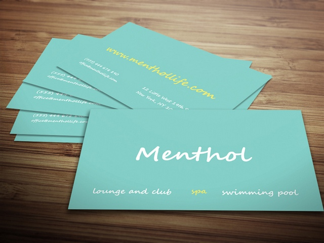 Menthol Minimal Business Card Template