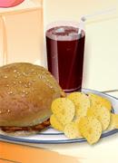 Сэндвич с курицей-гриль - Онлайн игра для девочек