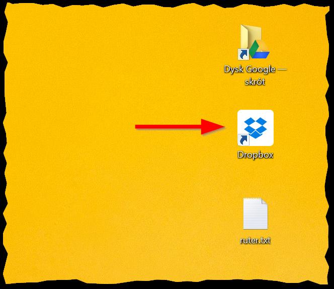 Skrót do folderu Dropbox na pulpicie