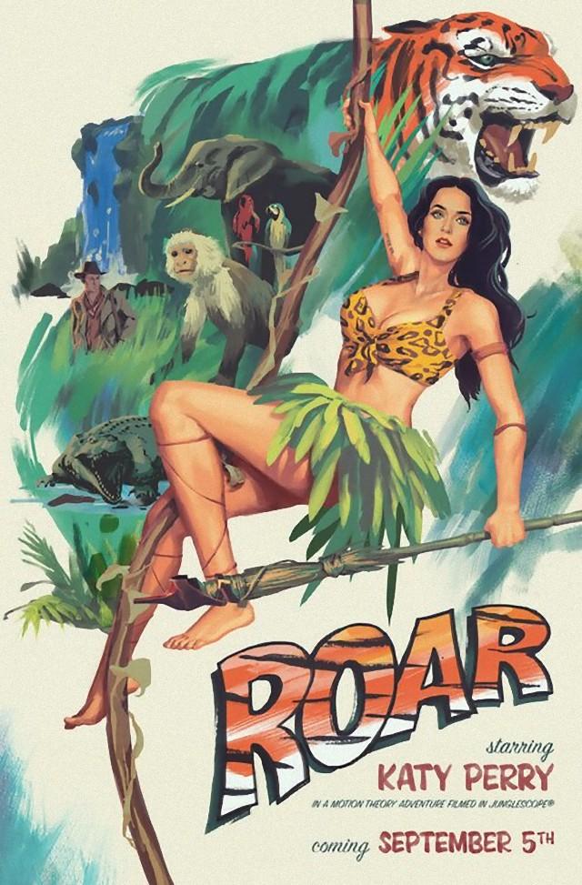 """Katy Perry del nuevo vídeo Roar como Jane la pareja de """"Tarzan"""""""