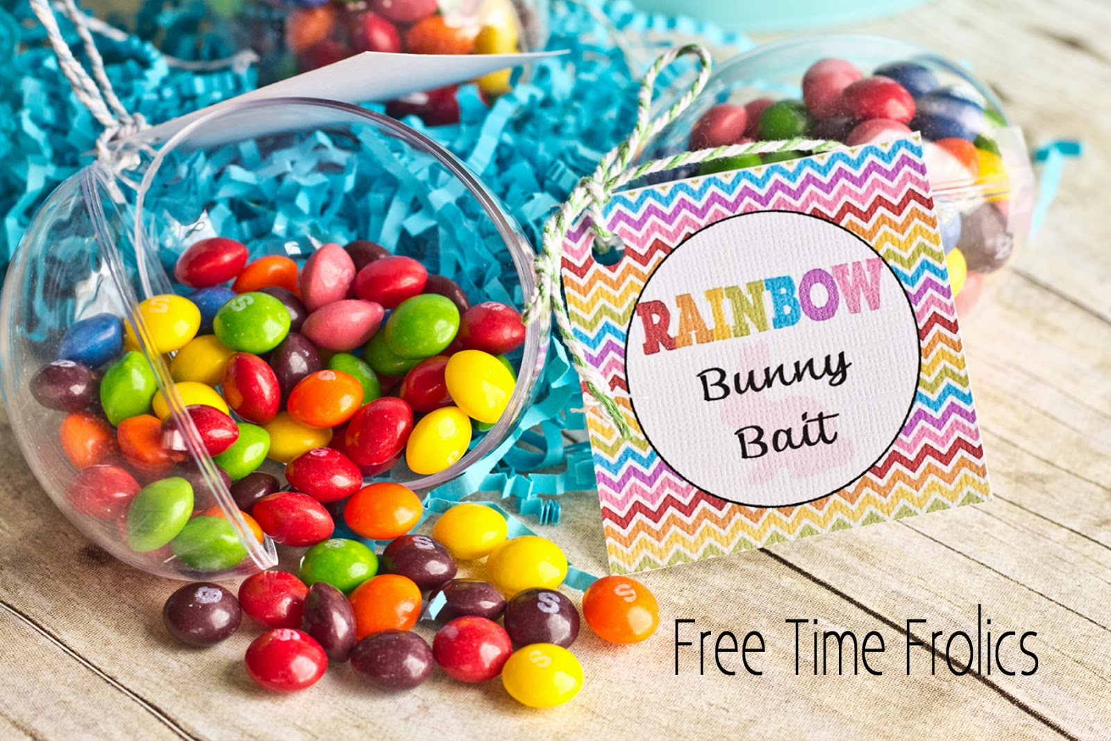 rainbow easter bunny bait free printable www.freetimefrolics.com