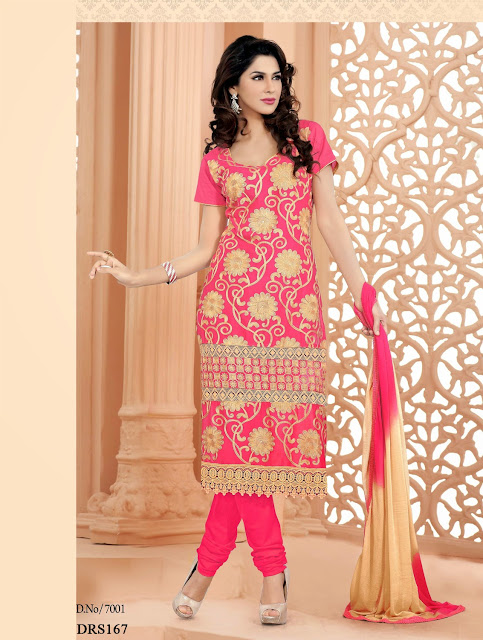 New Gorgeous Long Chiffon Embroidered Dress Material