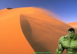 The Incredible Hulk Desktop Wallpaper Hulk watching you at the corner at Desert Wind