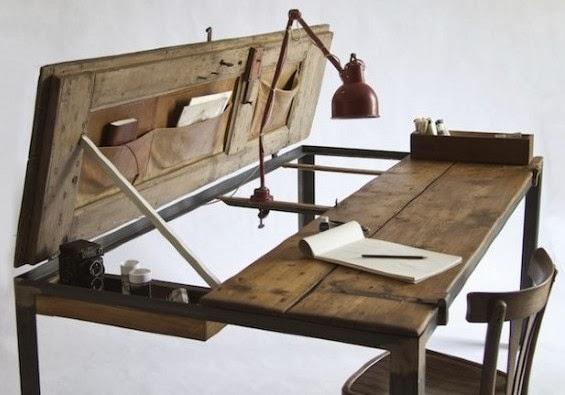 Tavolini In Legno Fai Da Te : Boiserie c tavoli e scrittoi fai da te idee