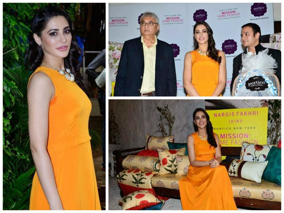 Gorgeous Nargis Fakhri spreads her magic at the launch of Mission Home Fashion by Portico New York