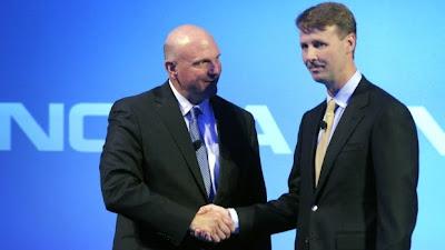 Microsoft's CEO Steven Ballmer and Nokia Board Chairman Risto Siilasmaa
