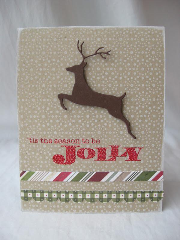 scrapbooking cafe online leaping deer christmas cards - Deer Christmas Cards