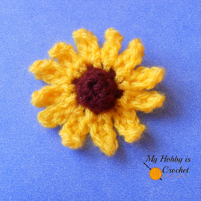My Hobby Is Crochet Small Cone Flower Rudbeckia Free Written