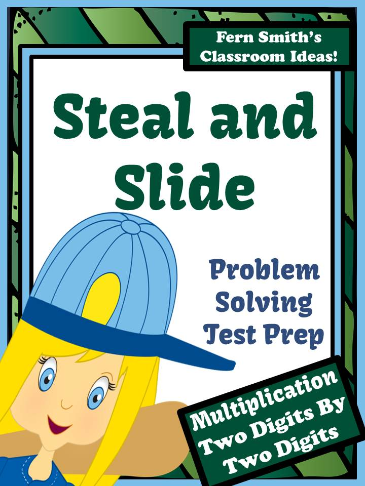 Test Prep Baseball's Steal and Slide Method - Two Digits By Two Digits Multiplication