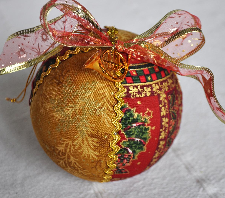 Bolas De Navidad De Poliespan Decoradas Con Telas