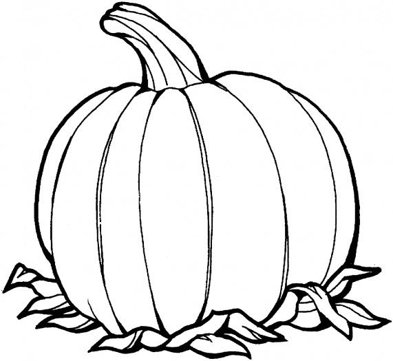 Apples And Pumpkins Coloring Pages : October