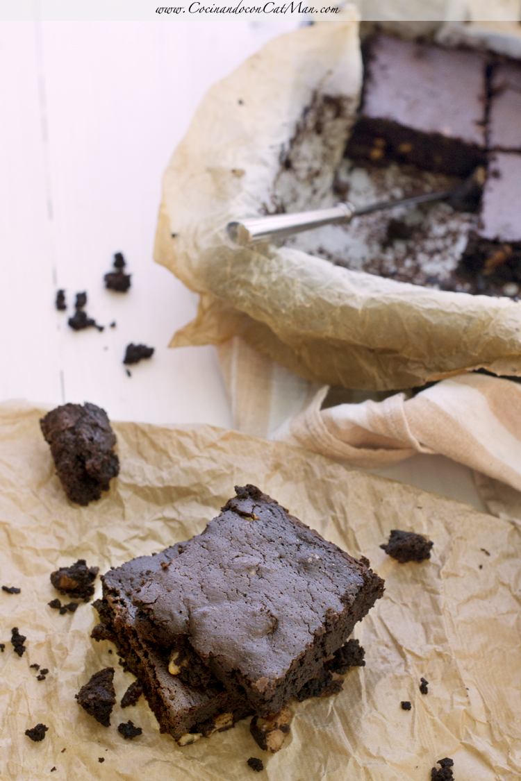 receta de brownie de algarroba sin gluten