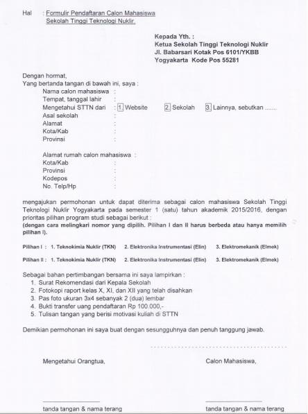 form pendaftaran sttn