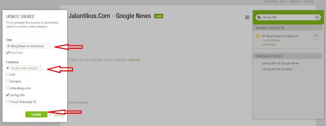 Bagaimana Cara menambahkan URL Feed Rss Baru ke Feedly.com