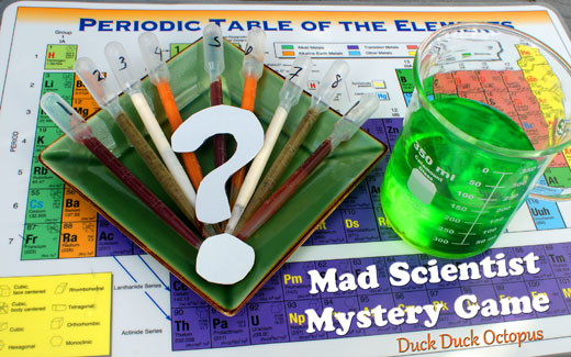 mad scientist mystery game snack
