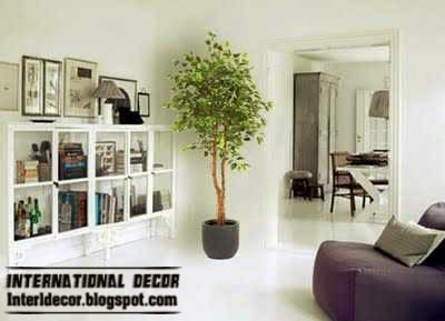 artificial plants, trees in pot