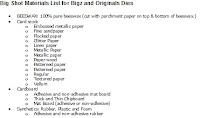List of Materials that can be used with the Big Shot