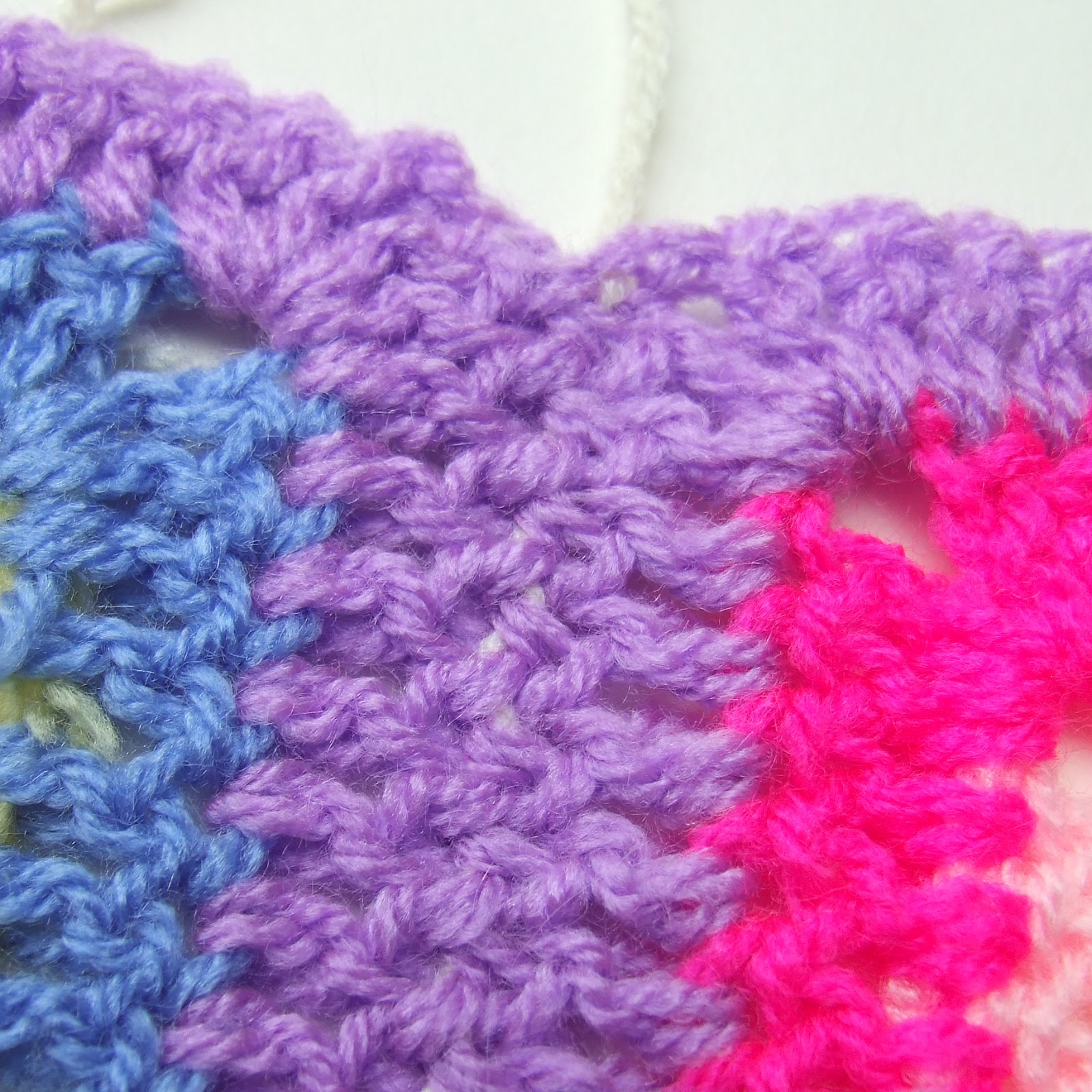 Crochet Join Stitch : Invisible Seam (Reverse Mattress Stitch) - Joining Crochet Squares
