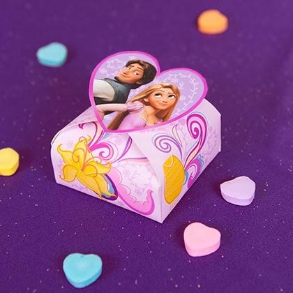 Rapunzel: Caja para Imprimir Gratis, Especial San Valentín.