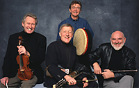 Irish musical group: The Chieftains. Left to right: Seán Keane, Paddy Moloney, Kevin Conneff and Matt Molloy, 2010.