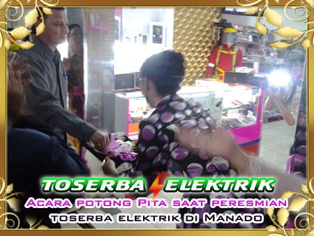 potong pita Toserba Elektrik di Manado
